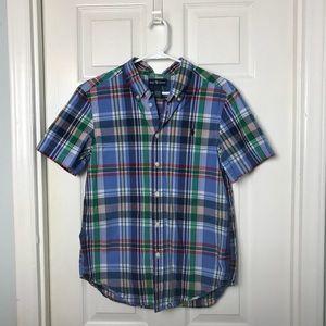 Boys Ralph Lauren Plaid Shirt. Size L (14-16)